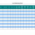 Lead monitoring sheet
