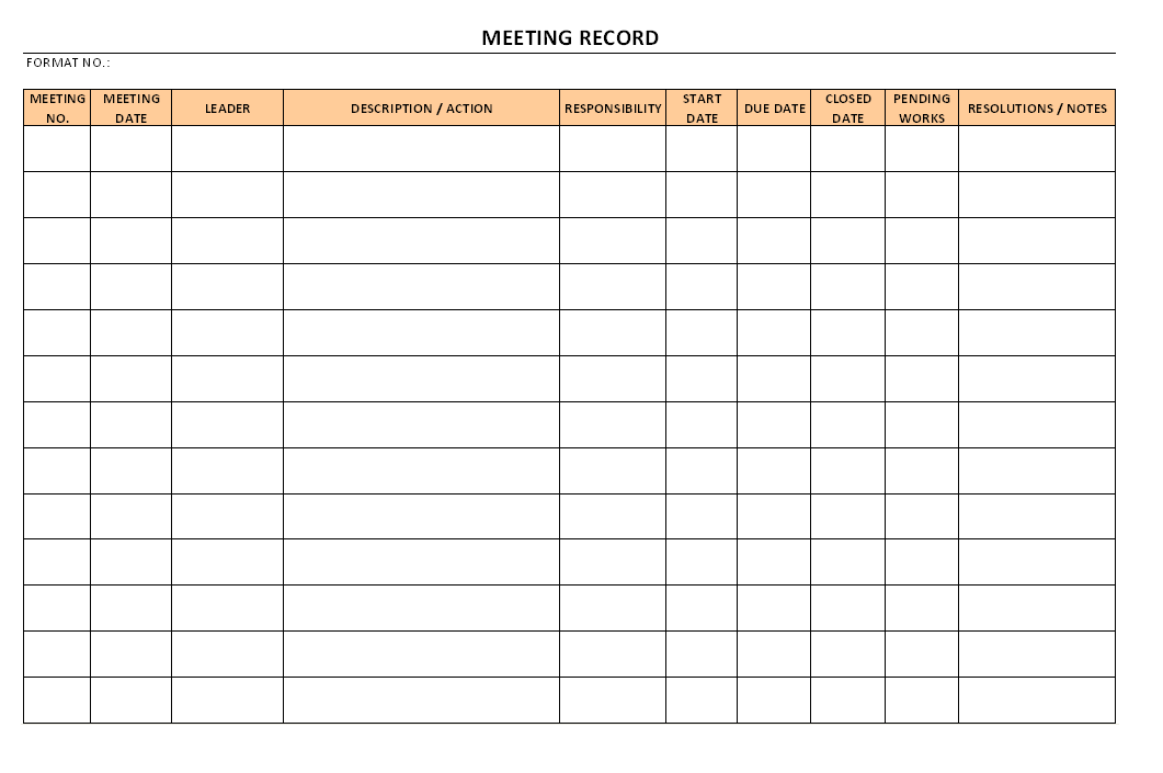 Meeting records format