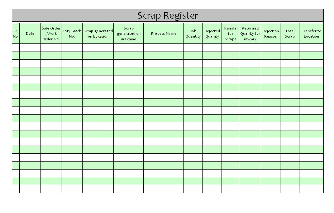 scrap register
