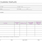 Task Planning Template