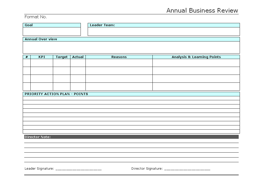 Business Review Template Powerpoint Oxynux Org