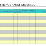 Engineering Change order log