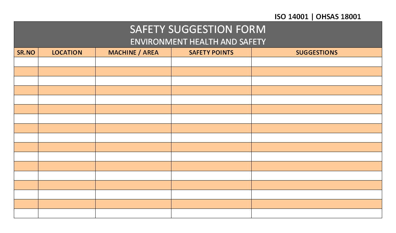 Safety Suggestion Form