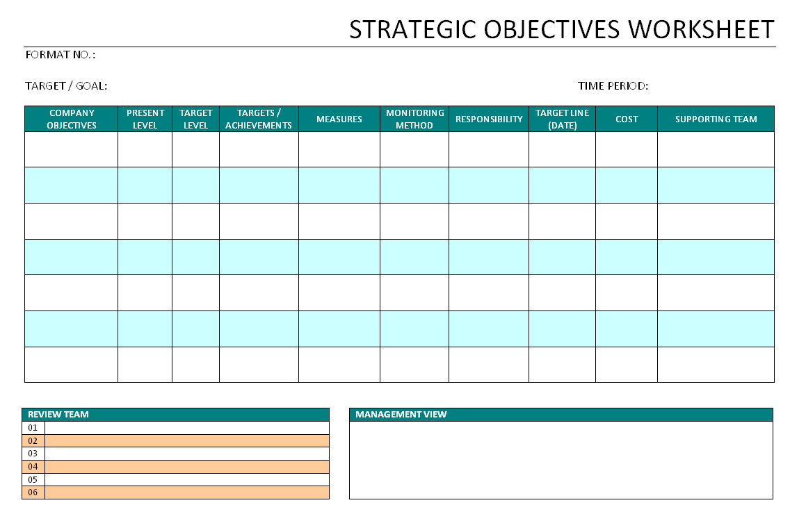 Strategic goal planning worksheet pdf