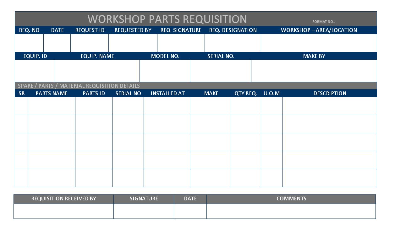 office supply requisition form template