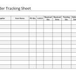 purchase order tracking sheet
