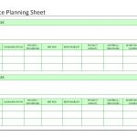 Compliance planning sheet