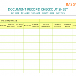 Document record checkout sheet