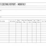 Equipment costing Report
