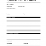 Equipment Inspection Report