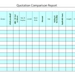 Quotation Comparison Report