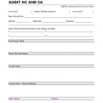 Audit Nonconformance and corrective action