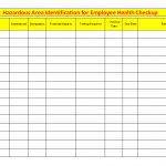 Hazardous area identification for employee health checkup