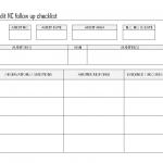 Internal audit non conformity followup checklist