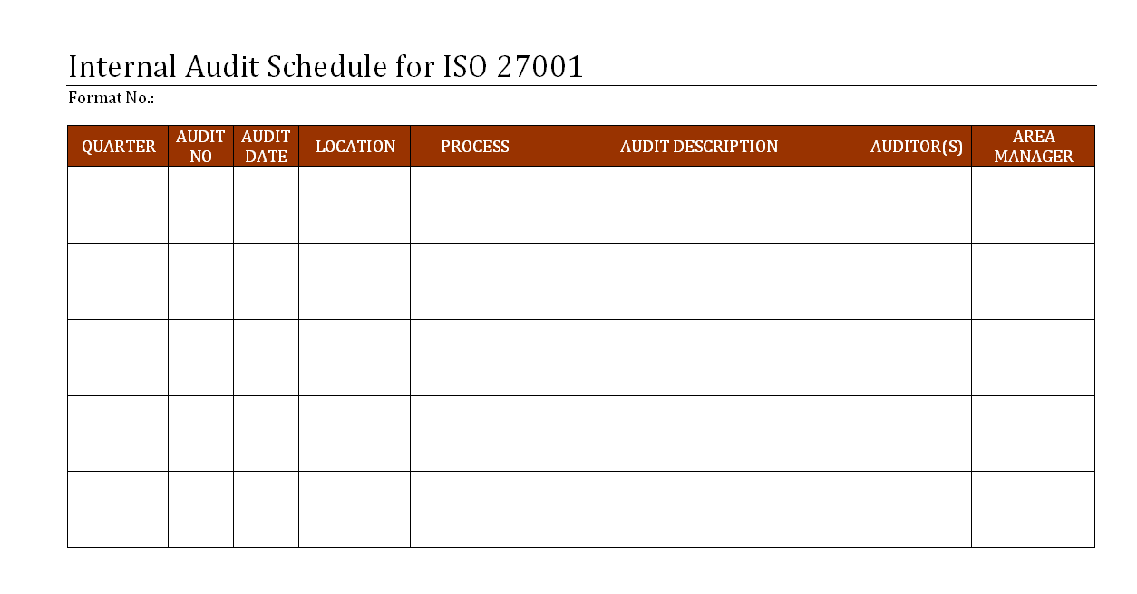 internal audit schedule for iso 27001. Black Bedroom Furniture Sets. Home Design Ideas