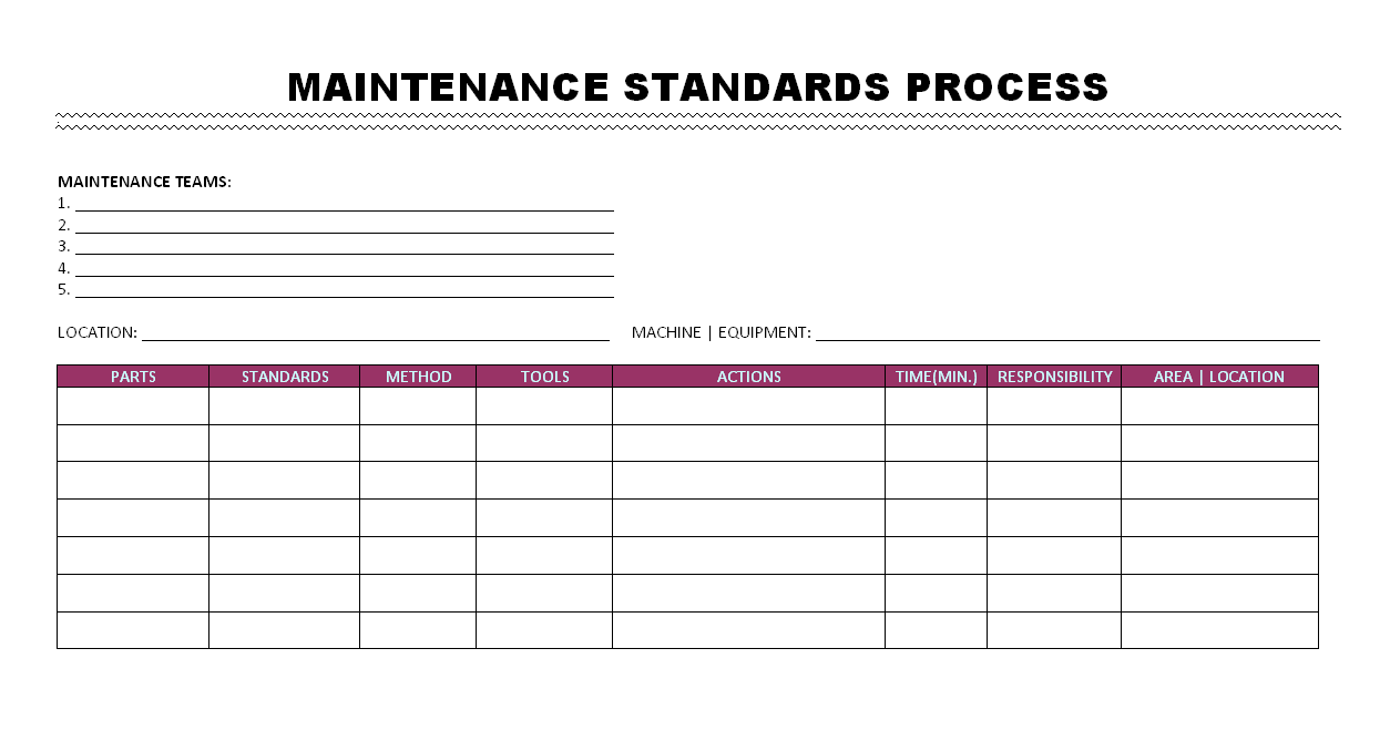 Maintenance Standards process