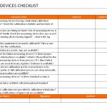 Measuring Device Checklist