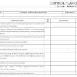 Control Plan checklist