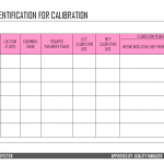 Equipment Identification for Calibration