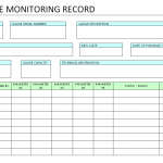 Gauge life monitoring record