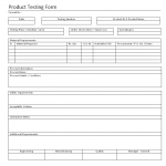 Product Testing Form