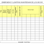 Emergency Lighting Maintenance Log Book