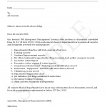 Internal Audit Circular letter