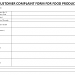 Customer Complaint Form