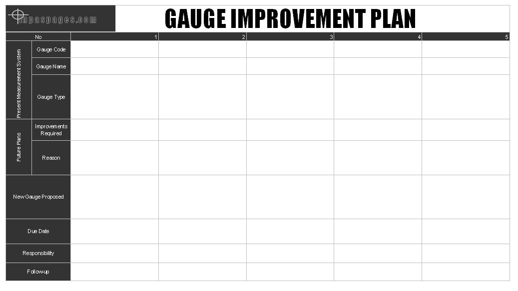 Gauge Improvement Plan