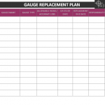 gauge replacement plan