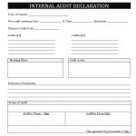 Internal audit declaration letter