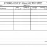 Internal auditor skill audit proforma