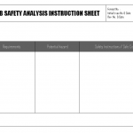 Job Safety analysis instruction sheet