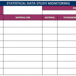 Statistical data study monitoring chart