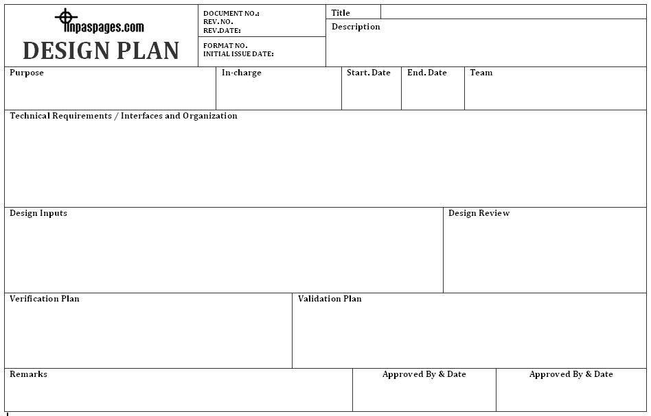 Design plan format