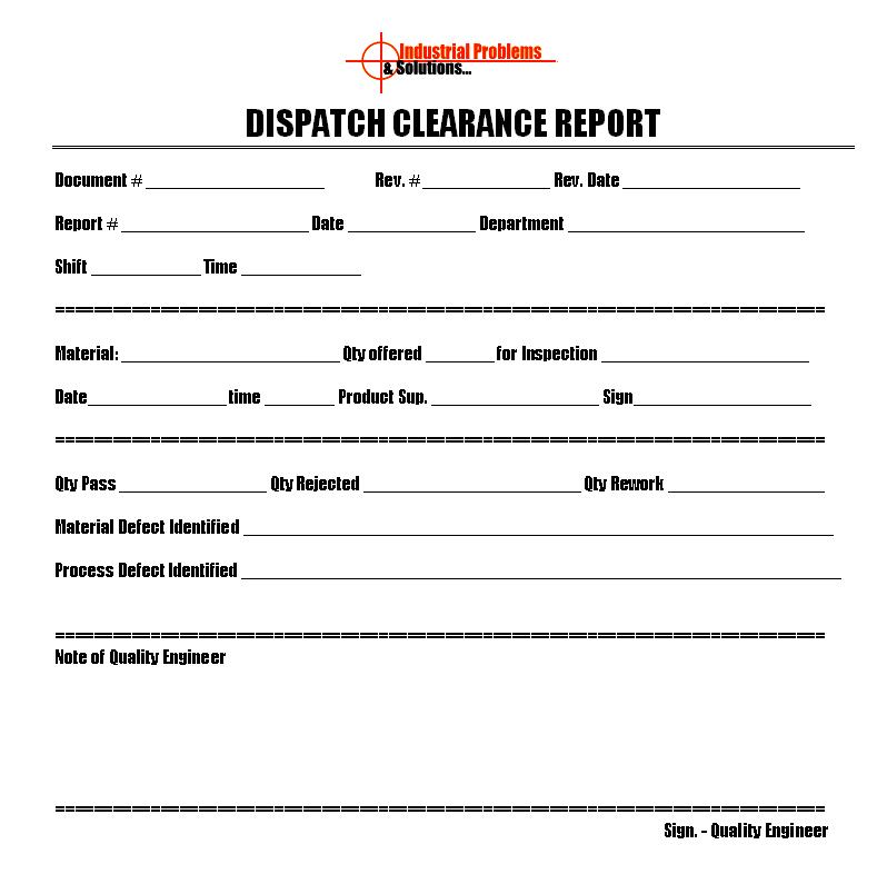 dispatch template