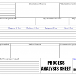Process analysis sheet