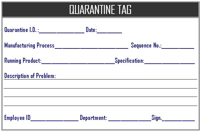 quarantine zone meaning