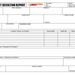 Internal audit deviation report