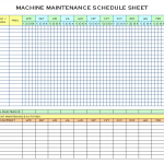 Machine Maintenance Schedule Sheet