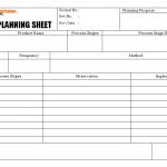 Verification planning sheet