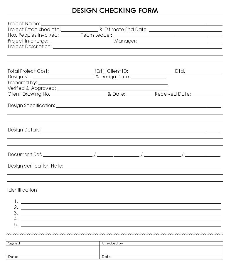Design checking form