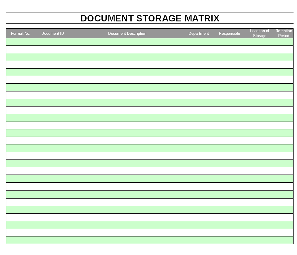 Document storage matrix