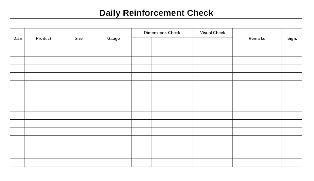 Daily reinforcement check