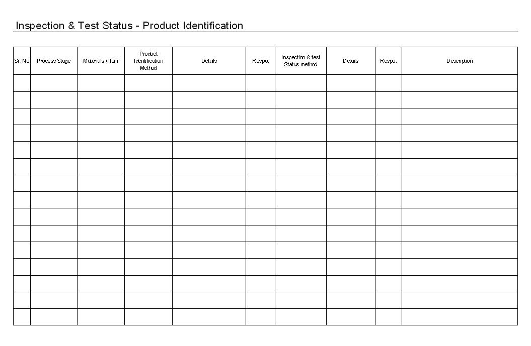 Inspection & Test Status