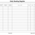 Daily meeting register