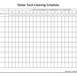 Water tank cleaning schedule