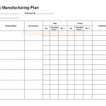 Weekly manufacturing plan