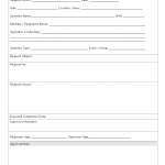 Operator request form