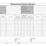 Dimensional control record